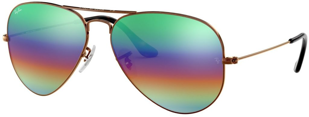 Ray-Ban Aviator Large Metal Mineral Flash Lenses RB3025-9018C3-58
