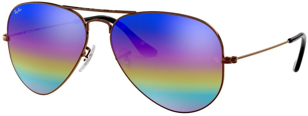 Ray-Ban Aviator Large Metal Mineral Flash Lenses RB3025-9019C2-58