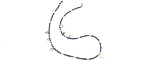 Boho Beach Sunny Necklace - Dark Blue