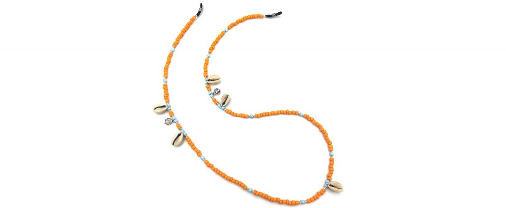 Boho Beach Sunny Necklace - Orange Blue