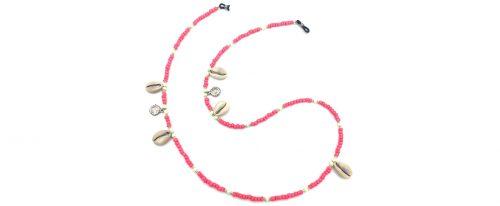 Boho Beach Sunny Necklace - Pink Sun