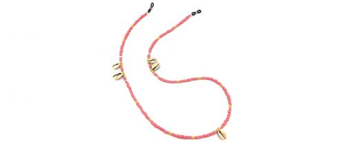 Boho Beach Sunny Necklace - Pink Yellow