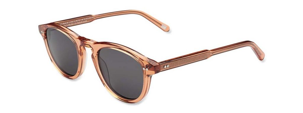 Chimi Eyewear #002 Peach Black