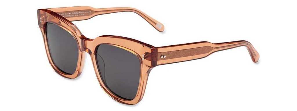 Chimi Eyewear #005 Peach Black